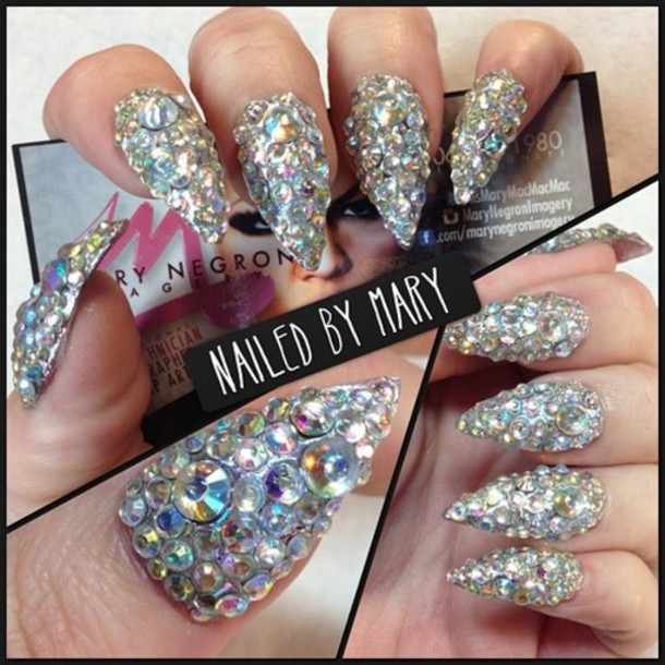 nail accessories, rhinestones, rhinestones, nails, nail ...