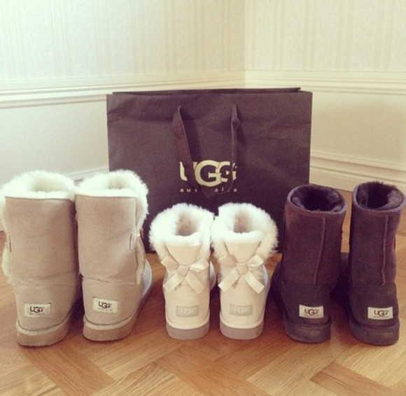 beige fashion ugg boots cute shoes winter boots bows