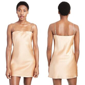 dress silk peach silk dress peach dress slip dress silk slip summer spring summer outfits spring outfits mini dress short dress summer dress minimalist saul