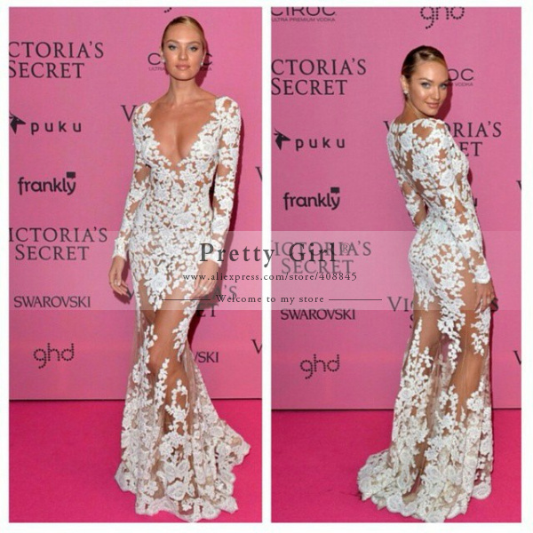 Aliexpress.com : buy fashion show sexy see through long mermaid evening dresses appliques lace long sleeve zuhair murad evening gown party dress 2015 from reliable dress thong suppliers on pretty girl trade co., ltd