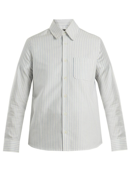 A.P.C. shirt cotton white blue top