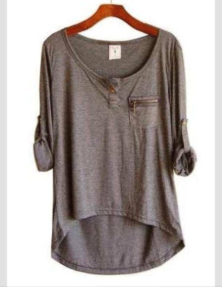 zipper shirt grey color comfy
