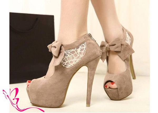 shoes brown high heels