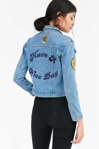 jacket embroidered denim jacket