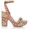 Calla linen embroidered platform sandals