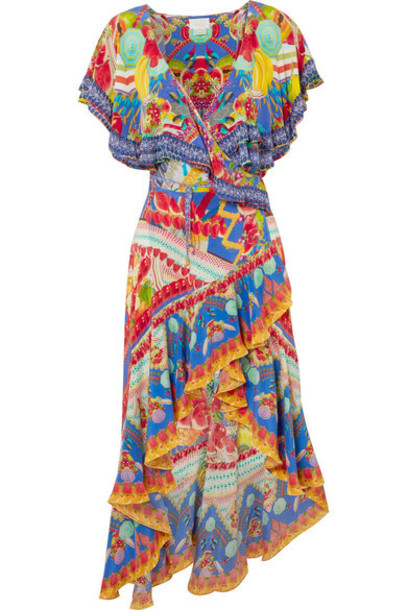 Camilla dress maxi dress maxi embellished blue silk