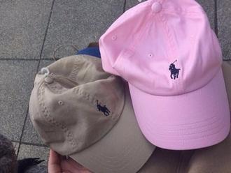 hat ralph lauren cap baseball cap pink nude all nude everything