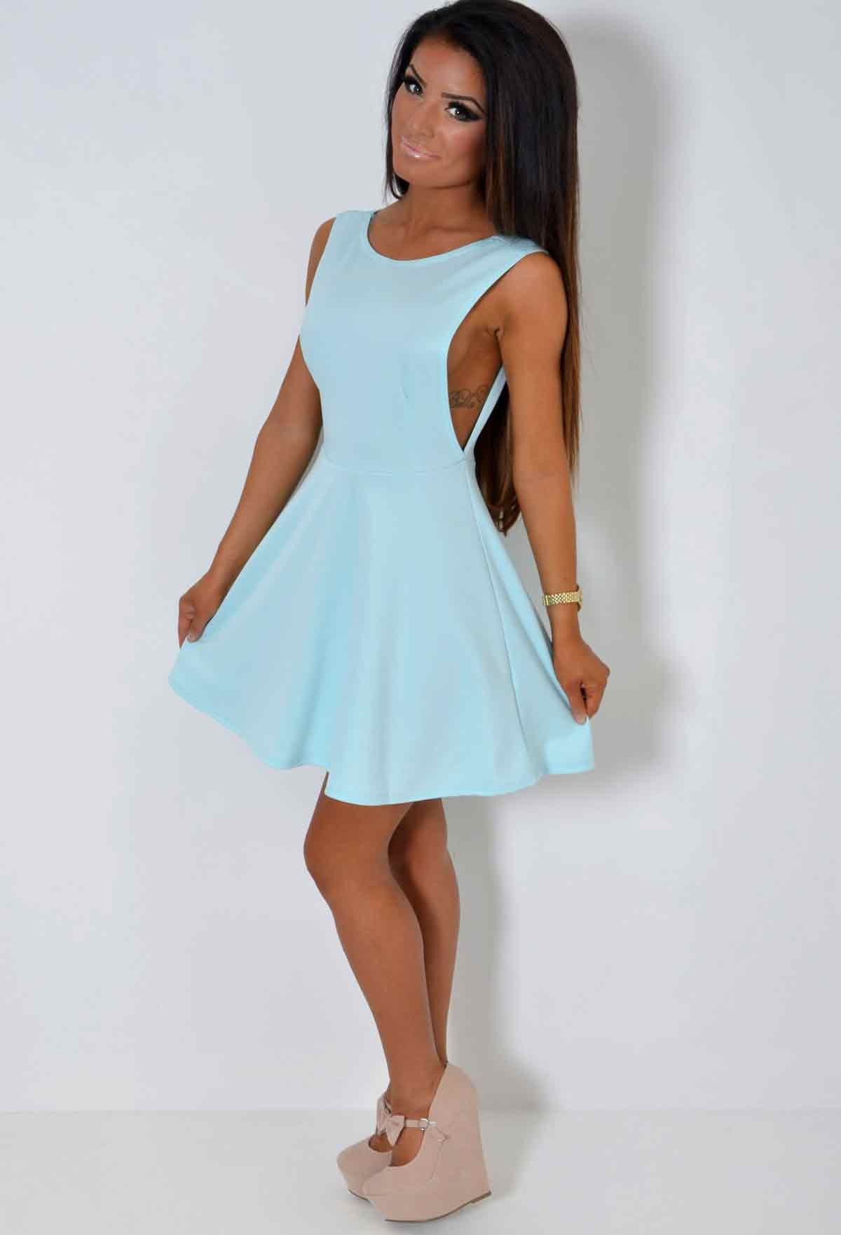 Intent Pastel Blue Skater Dress | Pink Boutique