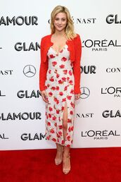 sweater,floral,floral dress,lili reinhart,celebrity,midi dress,cardigan