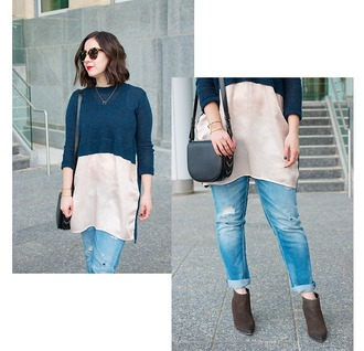 adventures in fashion blogger sweater jeans bag sunglasses shoes jewels