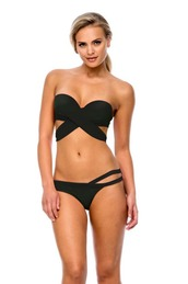 swimwear,bandeau,bikini top,black,halter top,peixoto swimwear,cool,fashion,clothes,peixoto