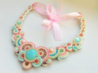 jewels soutache jewelery necklace