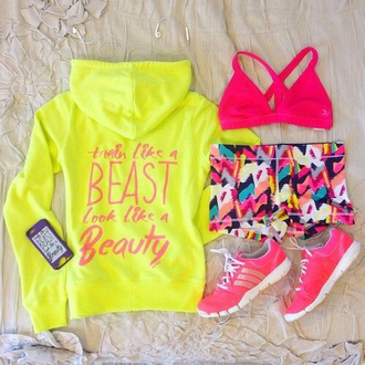 trainers hoodie sportswear quote on it beauty and the beast neon running shoes