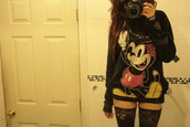 sweater,mickey mouse,shirt,greygirl,grey,socks
