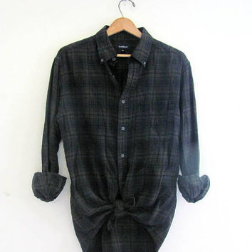 Vintage boyfriend flannel / Plaid Grunge Shirt / size M on Wanelo