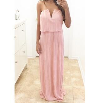 dress blush blush dress blush strapless dress strapless dress escloset