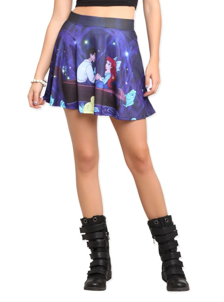 Disney The Little Mermaid Ariel Kiss The Girl Mini Skirt Print Very RARE Cute | eBay