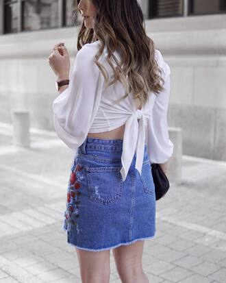top open back backless backless top white top crop tops sexy sexy top denim denim skirt open back top