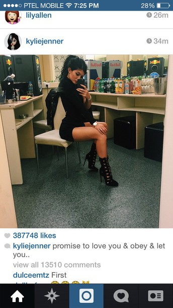 heels kylie jenner black heels cute high heels shoes black grunge dress romper boots cut out ankle boots style fashion celebrity summer