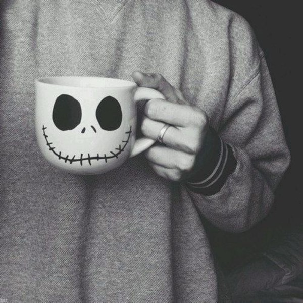 jewels skull stitchedmouth skull cup coffee coffee