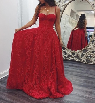 dress red lace long prom gown formal formal event outfit prom gown prom dress long prom dress