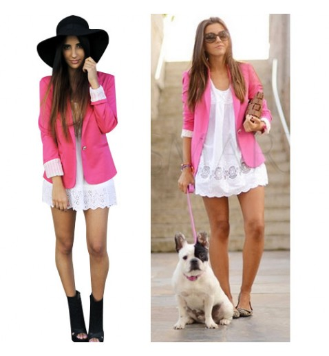 Pink Fitted Blazer