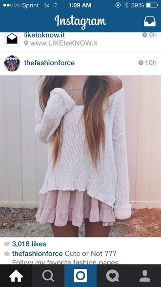 skirt polka dot ruffle skirt pink skirt