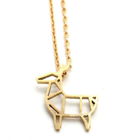 deer jewels christmas deer necklace antler necklace animal necklace winter jewelry christmas gift girls necklace woman necklace