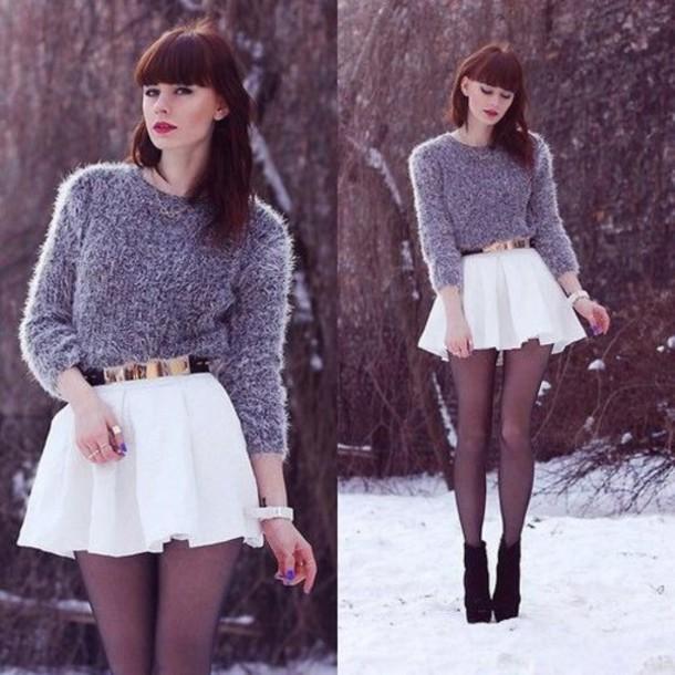 skirt belt skater skirt