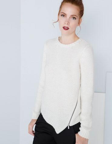 Sweter bershka z asymetrycznym dołem