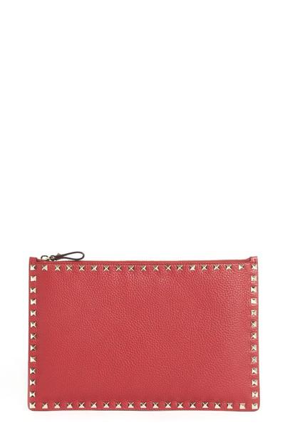 Valentino Garavani clutch red bag