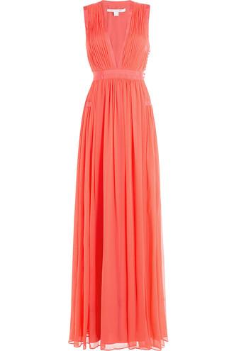 gown silk rose dress