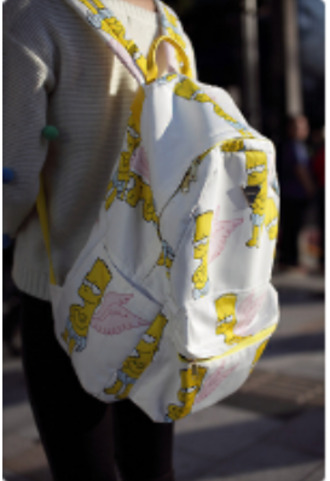 bag bart simpson the simpsons backpack angel