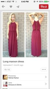 dress,long,burgundy,burgundy dress,prom,maroon prom dress