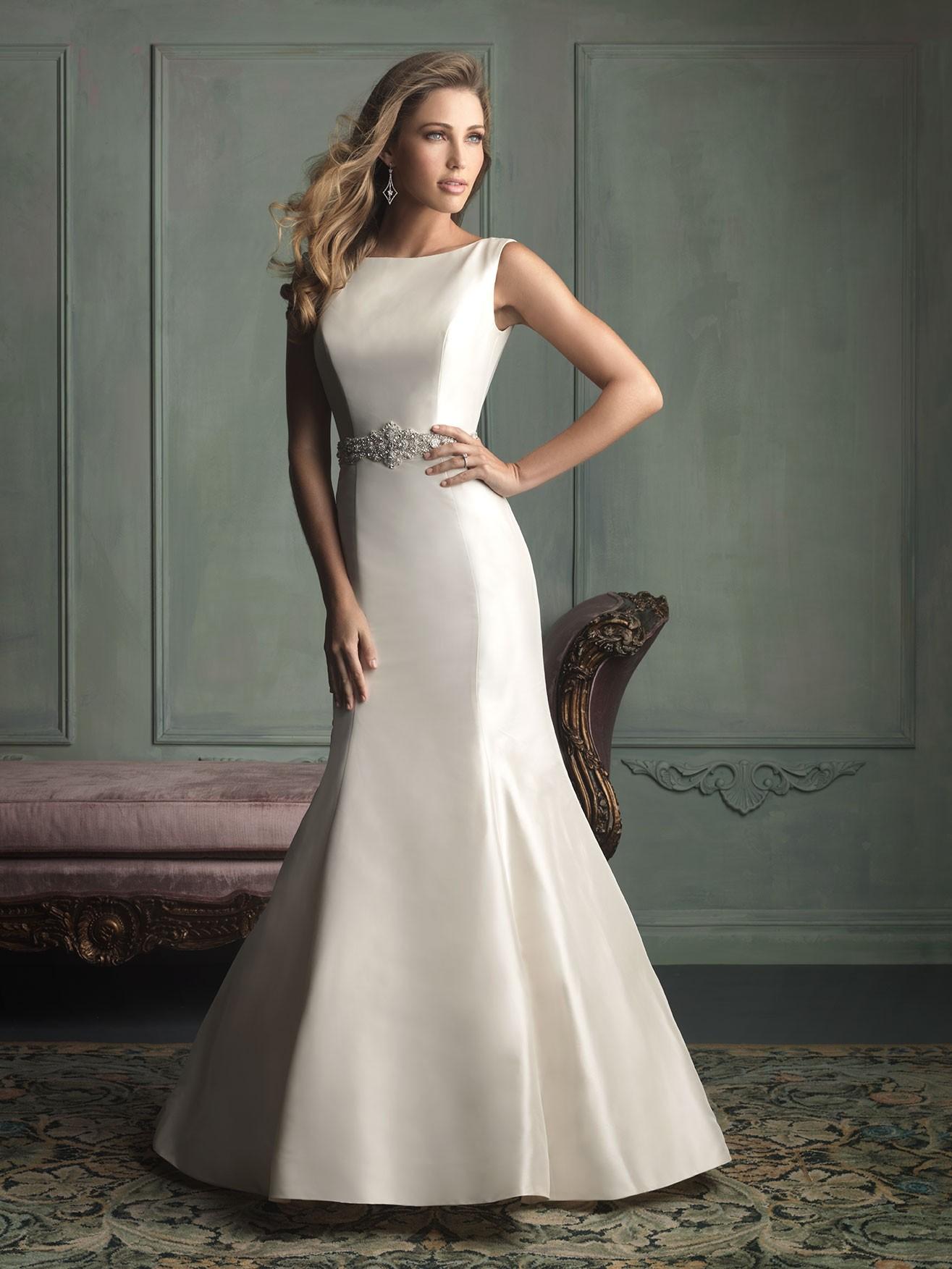 Interior Furnishing Allure Bridal 9106 Vintage Boat Neck Wedding Dress Crazy