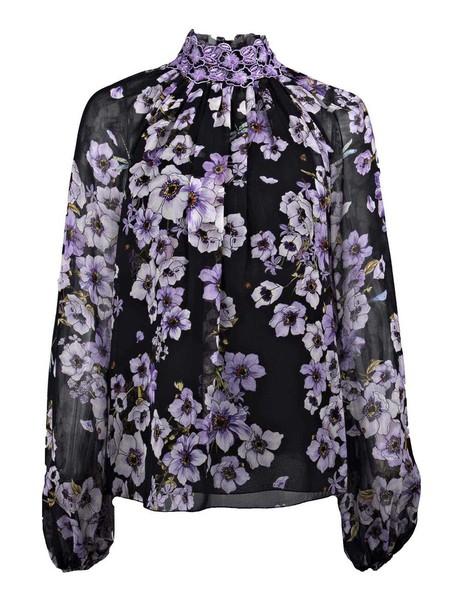 GIAMBATTISTA VALLI blouse floral black top