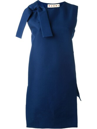 tunic bow blue top