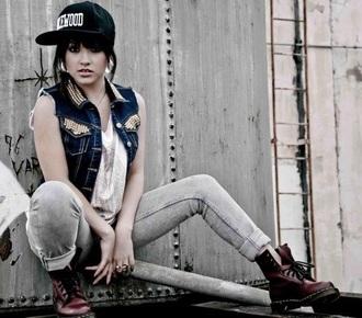 becky g cap grey jeans urban
