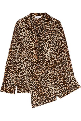 print silk leopard print underwear