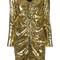 Misbhv metallic (grey) sequined dress, women's, size: medium, polyester/polyamide/spandex/elastane