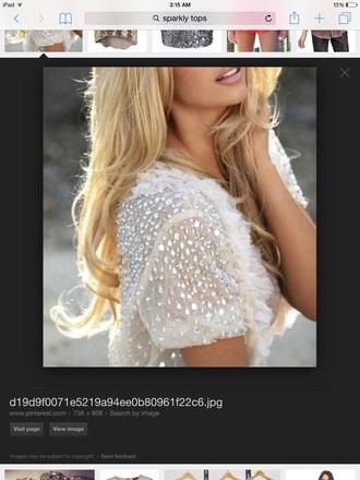 blouse jewels white blouse