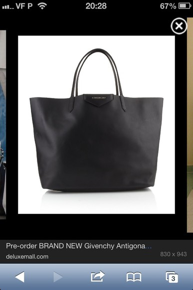 bag givenchy black leather