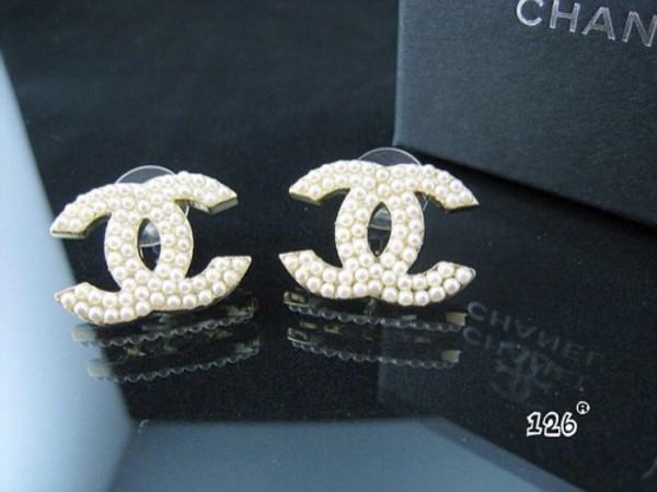 jewels earrings chanel white