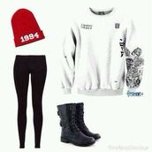 justin bieber,hat,blouse,shoes,sweater