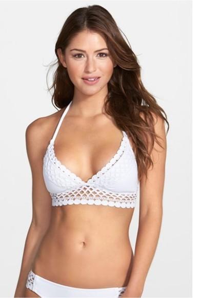 swimwear white bikini crochet crochet bikini