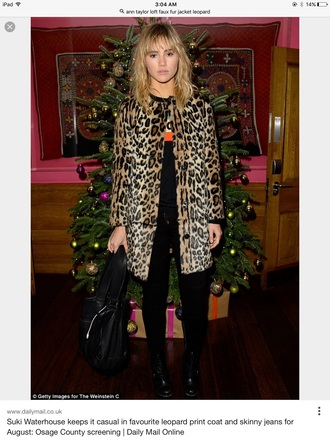 jacket faux fur jacket leopard print