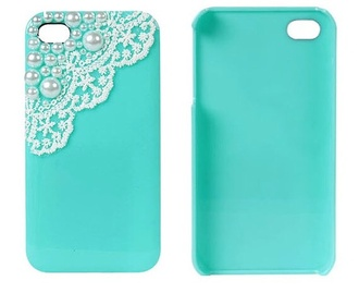 phone case pretty blue and white iphone 4 case