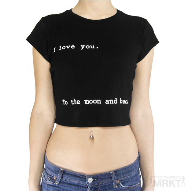 I love you to the moon and back crop top / thefashionmrkt