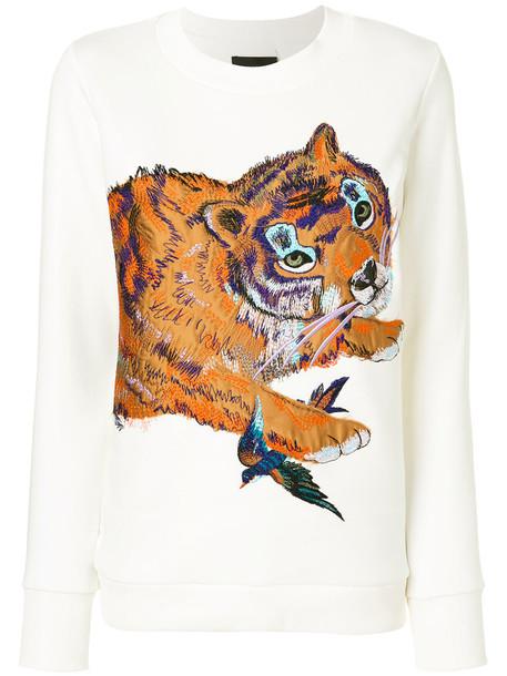 Katya Dobryakova sweatshirt women spandex white cotton sweater
