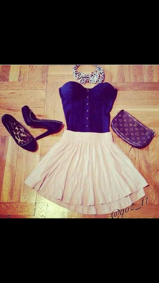 corset top blouse cute skirt